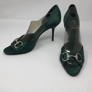 Gucci Horsebit D'Orsay Peep Toe Pump size 10
